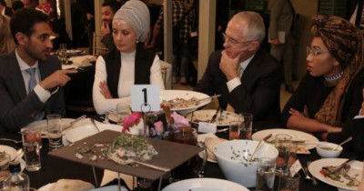 Prime Minister Turnbull dinner with Abdiel-Magieb